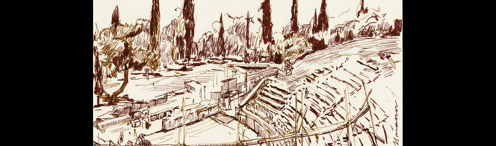 Sketch of Theater of Dionysus