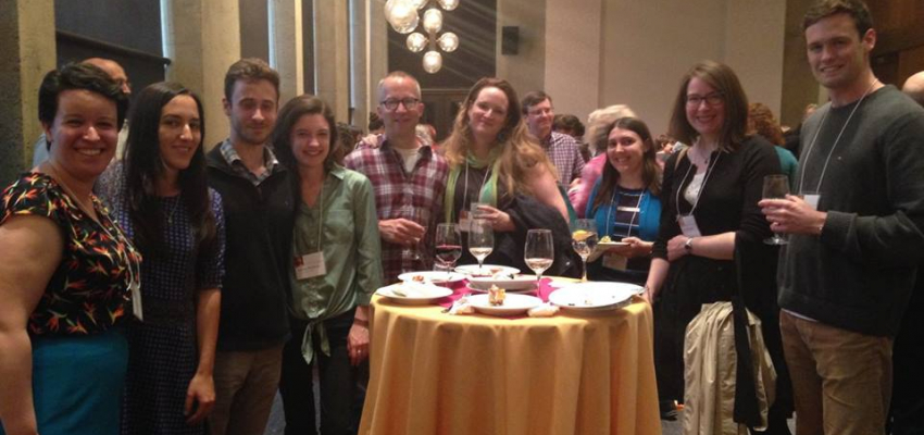 UW Classics graduate students and recent alums at the opening reception of Feminism and Classics VII