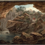 View looking out from a cave, a print by Edward Dodwell