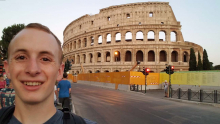 Alex at the Colosseum in Rome