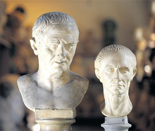 Busts of Cicero and Caesar