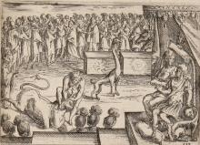 An early modern woodcut scene from Heliodorus