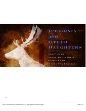 Iphigenia and other daughters poster showing a deer