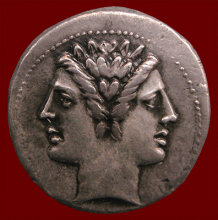 Coin image of two-headed Janus