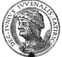 line drawing of Juvenal