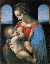 Leonardo da Vinci (attr.) Madonna Litta