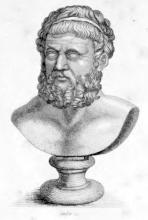 Bust of the poet Pindar, from an 1864 book illustration