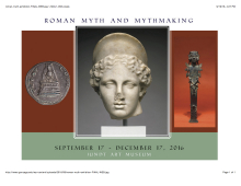 Roam objects from the exhibition Roman Myth and Mythmaking at Gonzaga's Jundt Art Museum