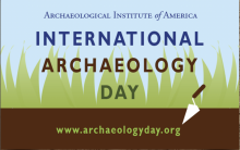 Logo for International Archaeology Day, hosted by the Archaeological Institute of America
