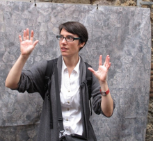 Prof. Levin-Richardson at Pompeii