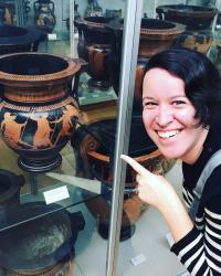 Anna at the British Museum