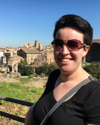 Anna at the Roman Forum