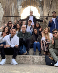Clauss with students in Rome