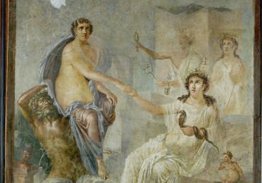 Isis receives Io (Pompeian wall painting)
