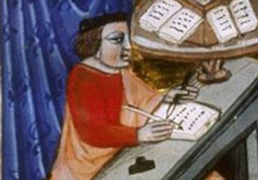 Cicero at his desk