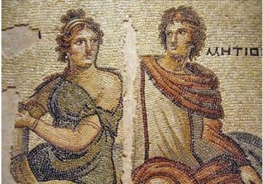 Roman mosaic detail