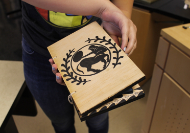 student made wax tablet ancient writing system