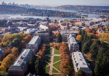View of the UW Seattle campus quad