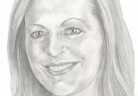 Drawing of Edith Hall