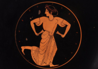 painting of a Greek woman dancing