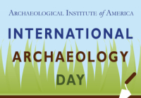 icon for international archaeology day with trowel