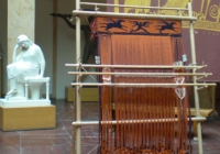 Recreation of ancient Greek weaving loom