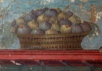 Roman fresco showing a basket of figs